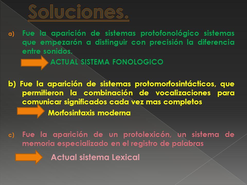 Soluciones. Actual sistema Lexical
