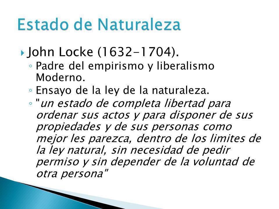 Estado de Naturaleza John Locke (1632-1704).