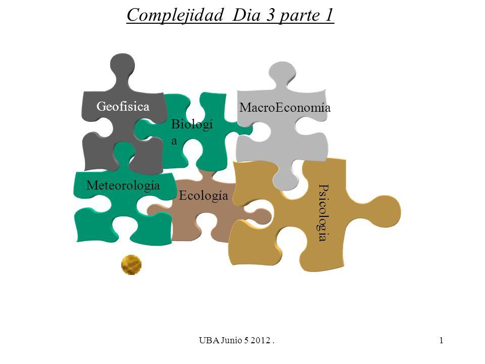 Complejidad Dia 3 parte 1 Geofisica MacroEconomía Biología Psicologia