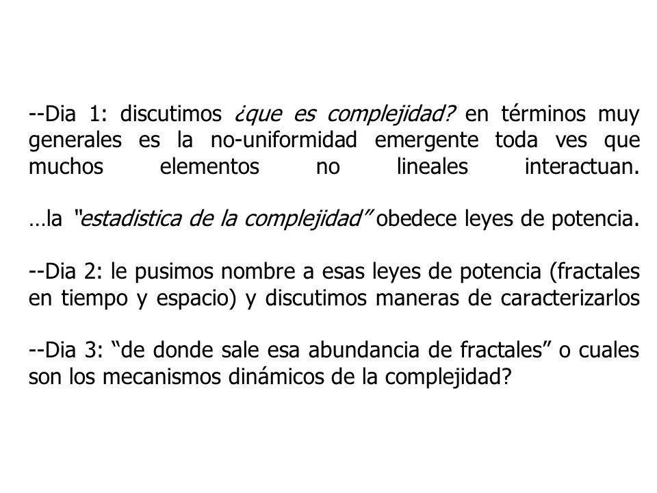 --Dia 1: discutimos ¿que es complejidad