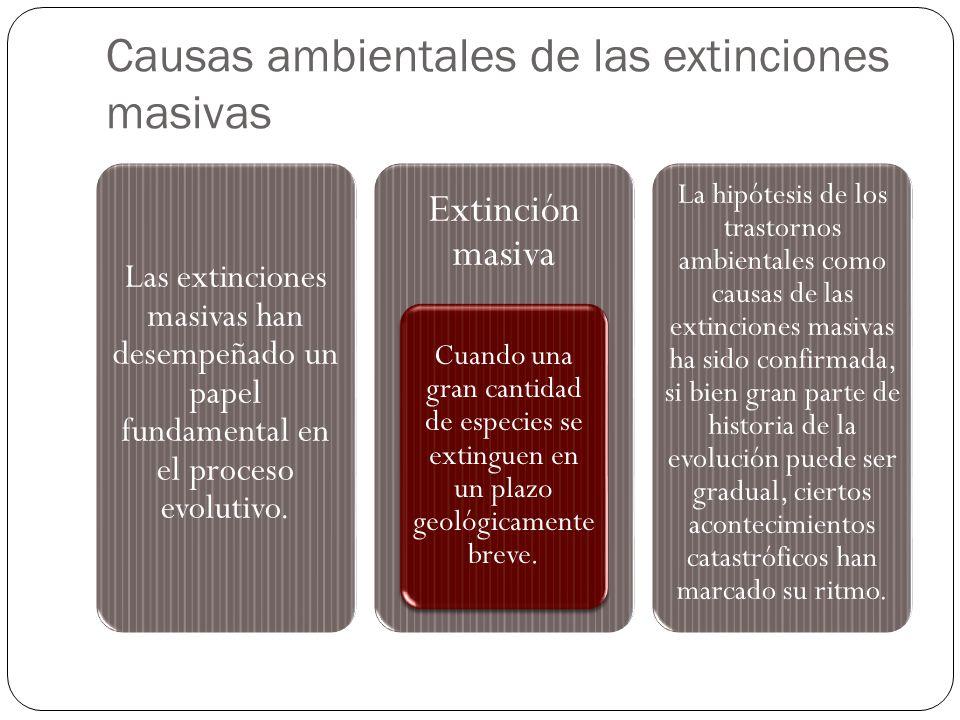 Causas ambientales de las extinciones masivas