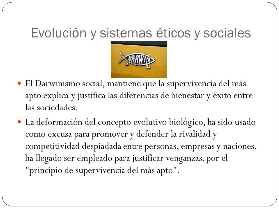Evolución y sistemas éticos y sociales