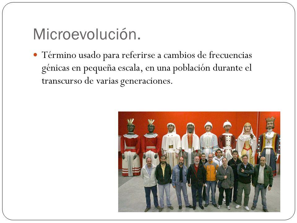 Microevolución.
