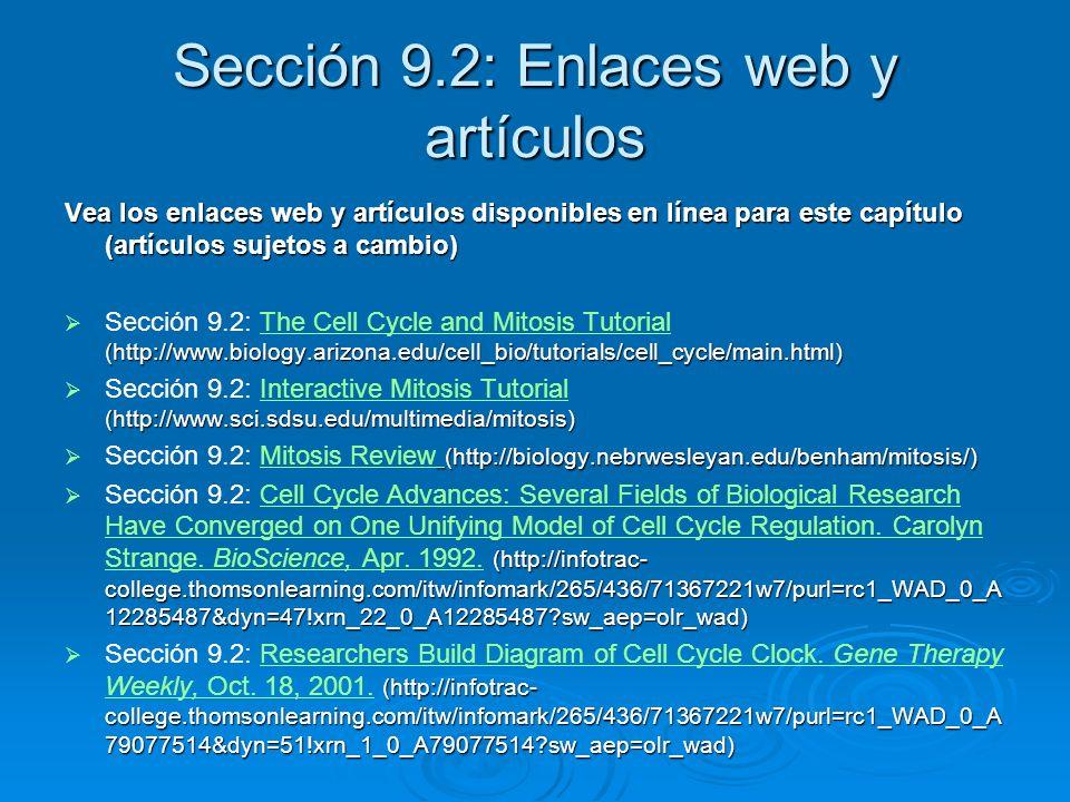 Sección 9.2: Enlaces web y artículos