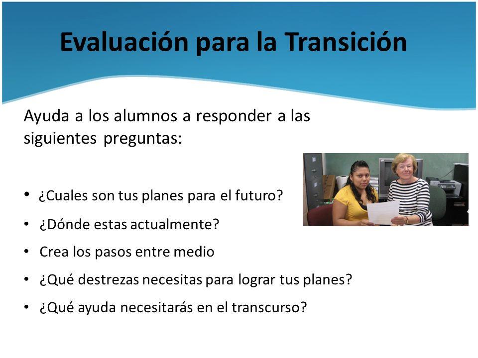 Evaluación para la Transición
