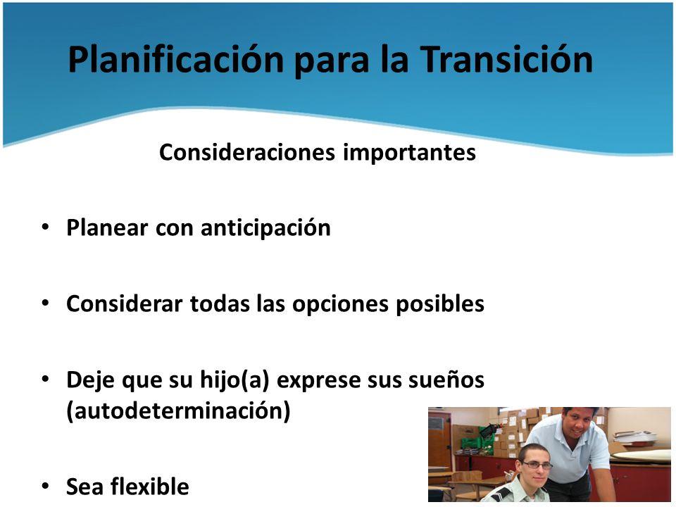 Planificación para la Transición
