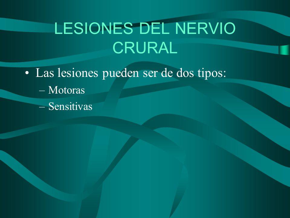 LESIONES DEL NERVIO CRURAL