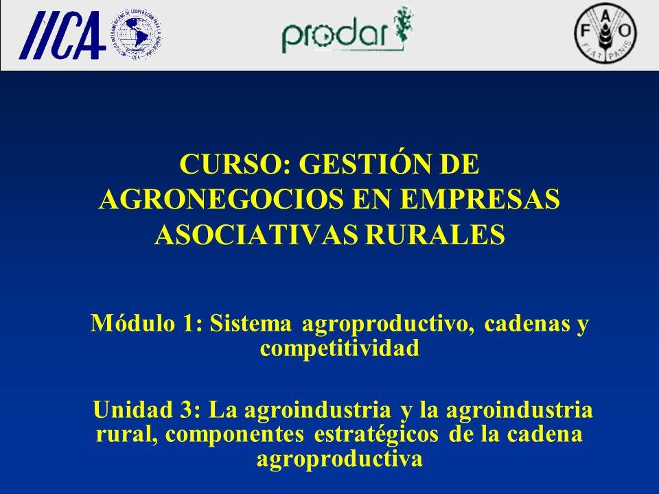 CURSO: GESTIÓN DE AGRONEGOCIOS EN EMPRESAS ASOCIATIVAS RURALES
