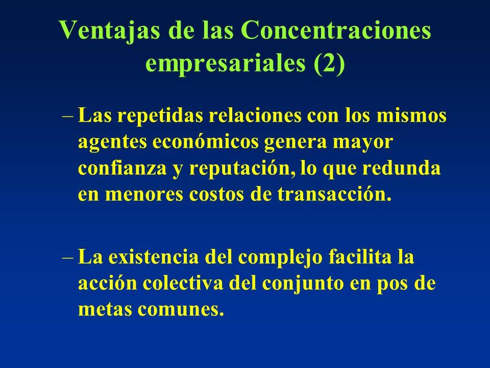 Ventajas de las Concentraciones empresariales (2)