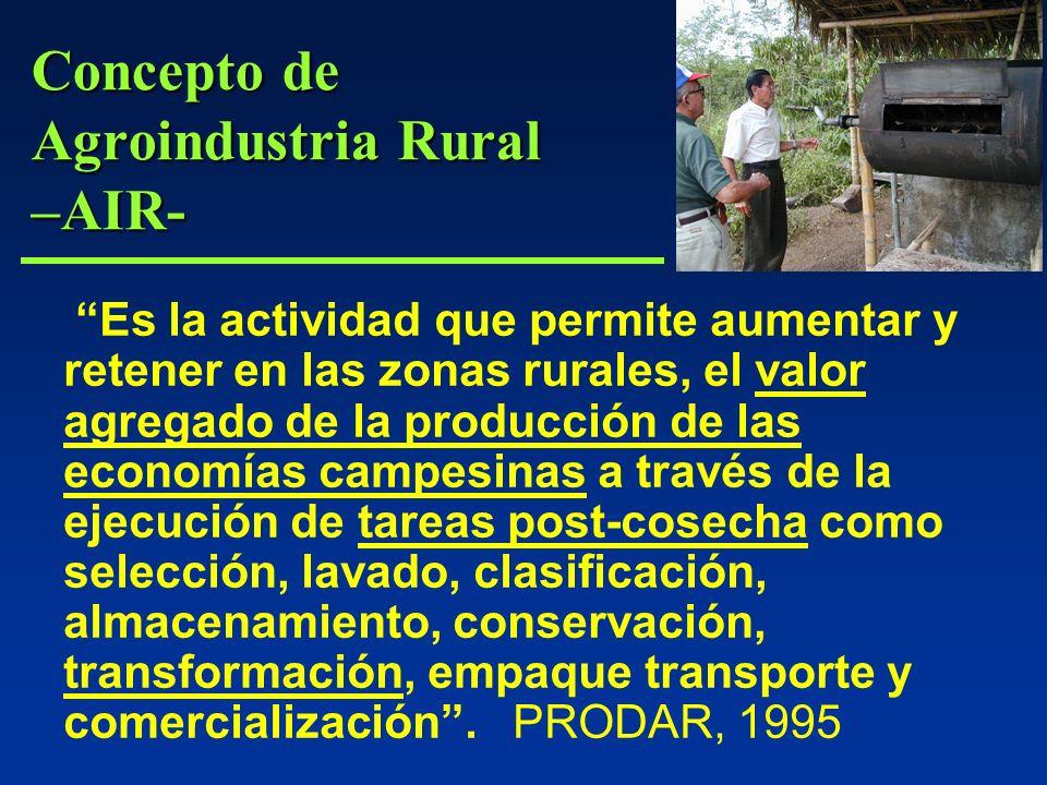 Concepto de Agroindustria Rural –AIR-