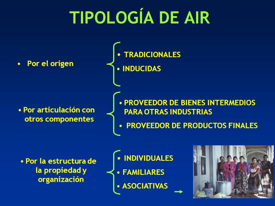 TIPOLOGÍA DE AIR TRADICIONALES INDIVIDUALES INDUCIDAS Por el origen