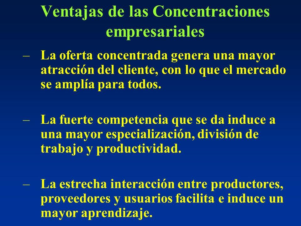 Ventajas de las Concentraciones empresariales
