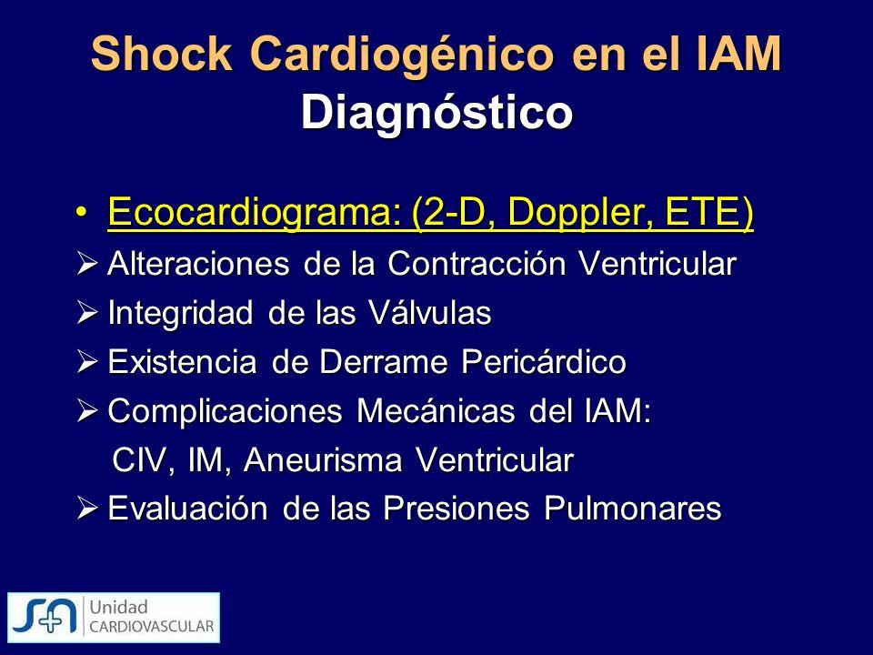 Shock Cardiogénico en el IAM Diagnóstico