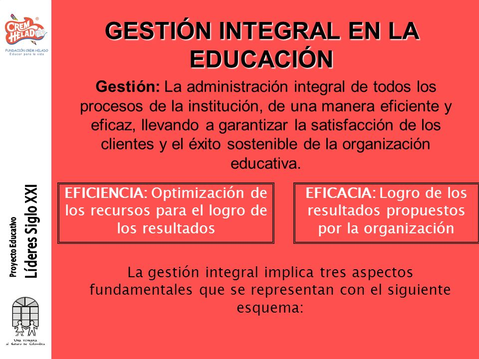 GESTIÓN INTEGRAL EN LA EDUCACIÓN