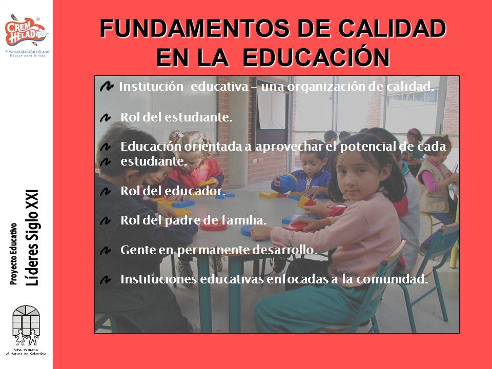 FUNDAMENTOS DE CALIDAD EN LA EDUCACIÓN
