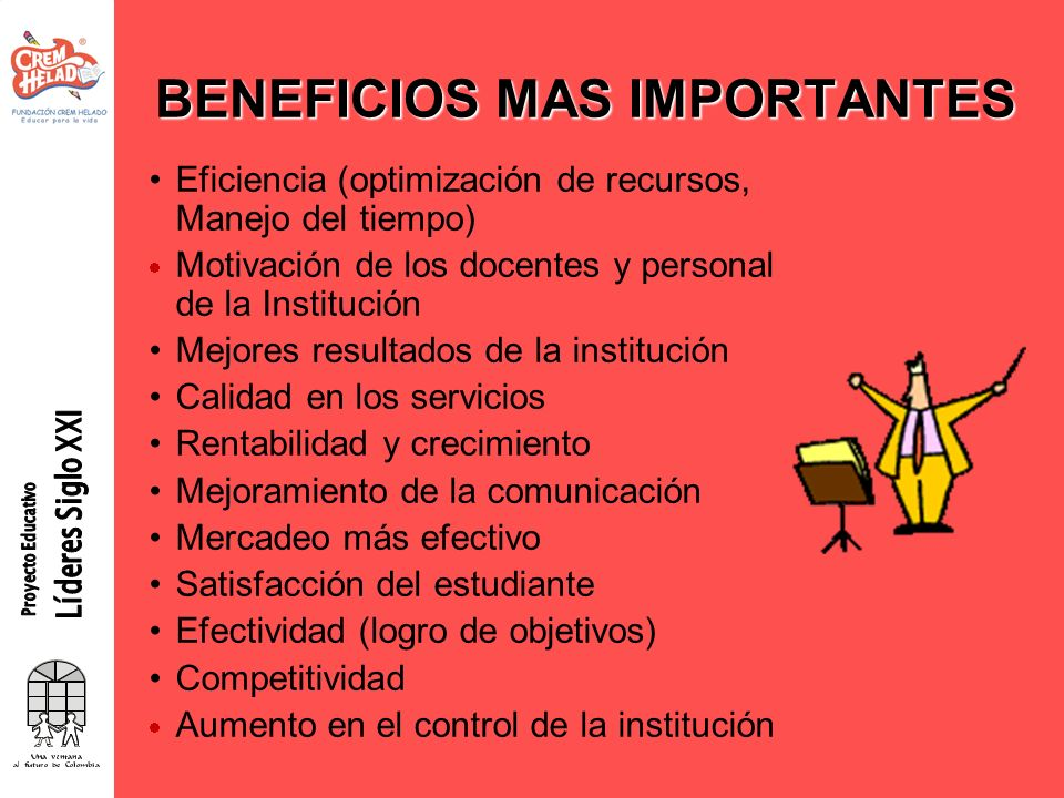 BENEFICIOS MAS IMPORTANTES