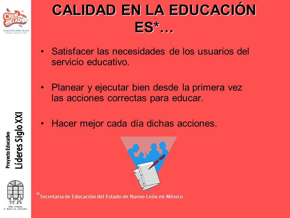 CALIDAD EN LA EDUCACIÓN ES*…
