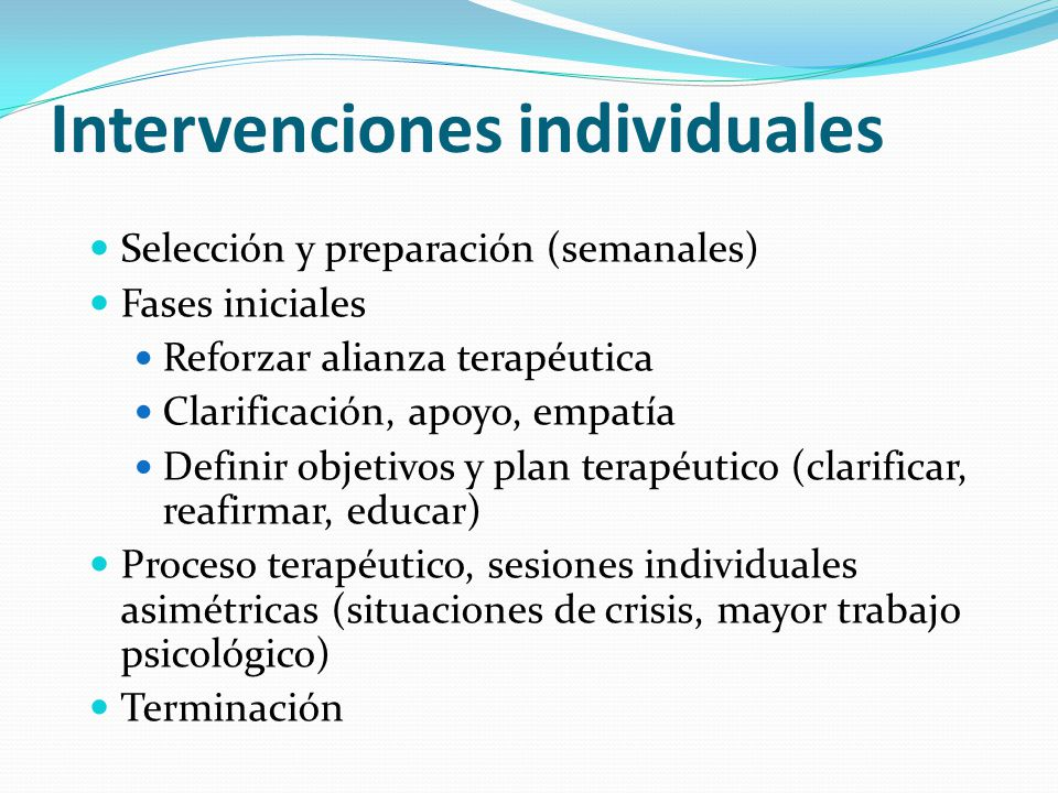 Intervenciones individuales
