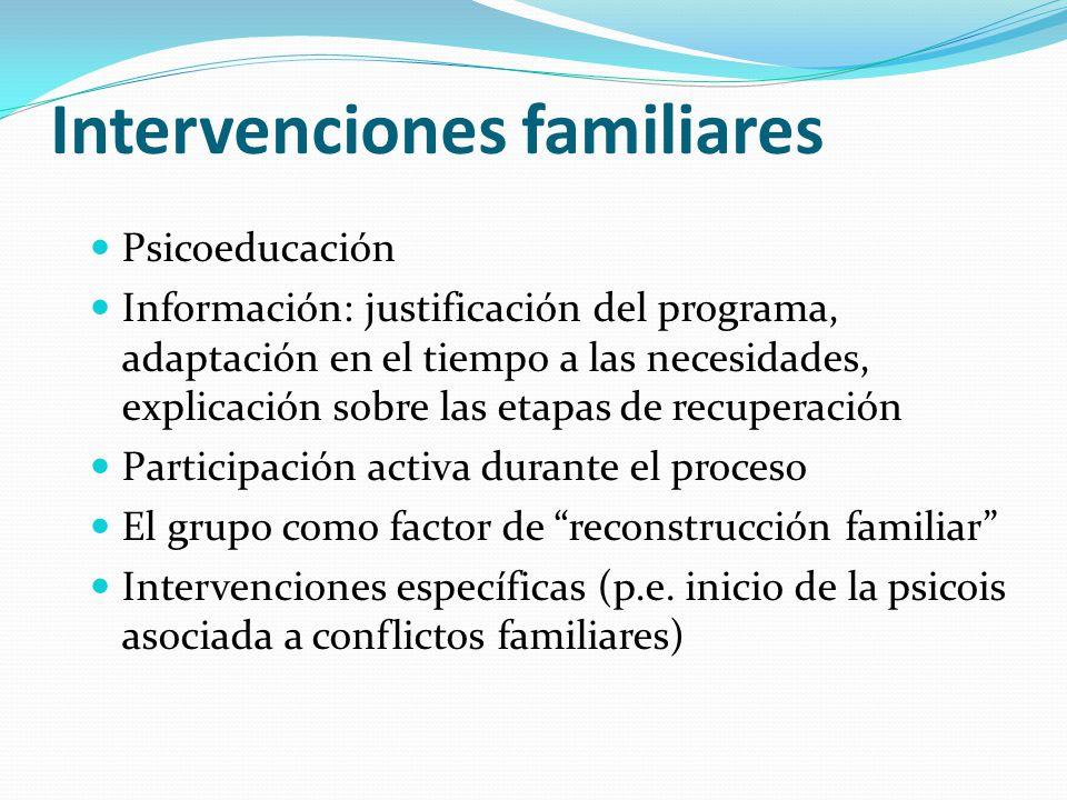 Intervenciones familiares