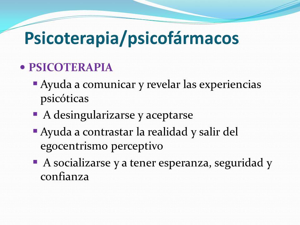 Psicoterapia/psicofármacos