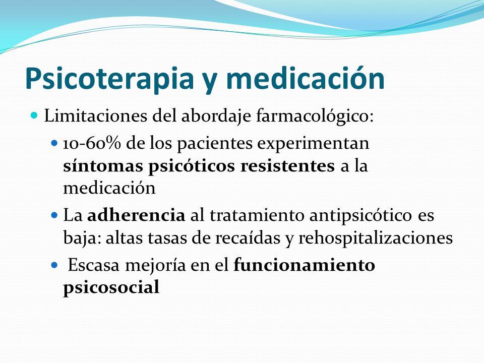 Psicoterapia y medicación