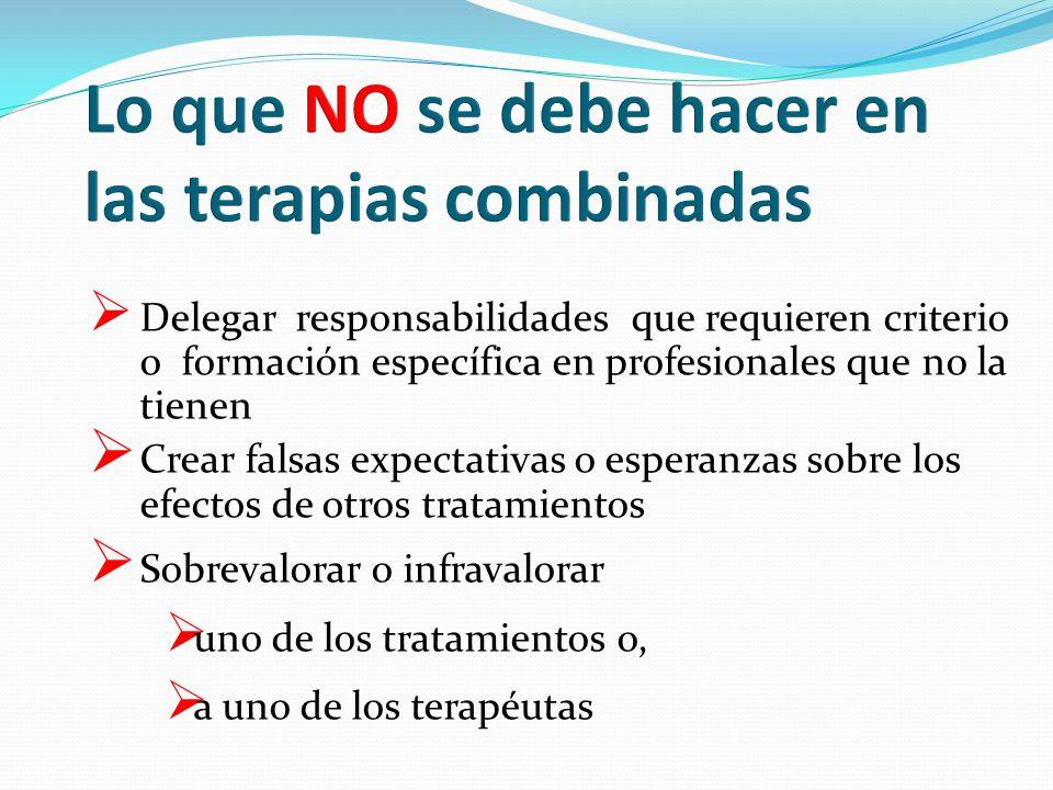 Lo que NO se debe hacer en las terapias combinadas