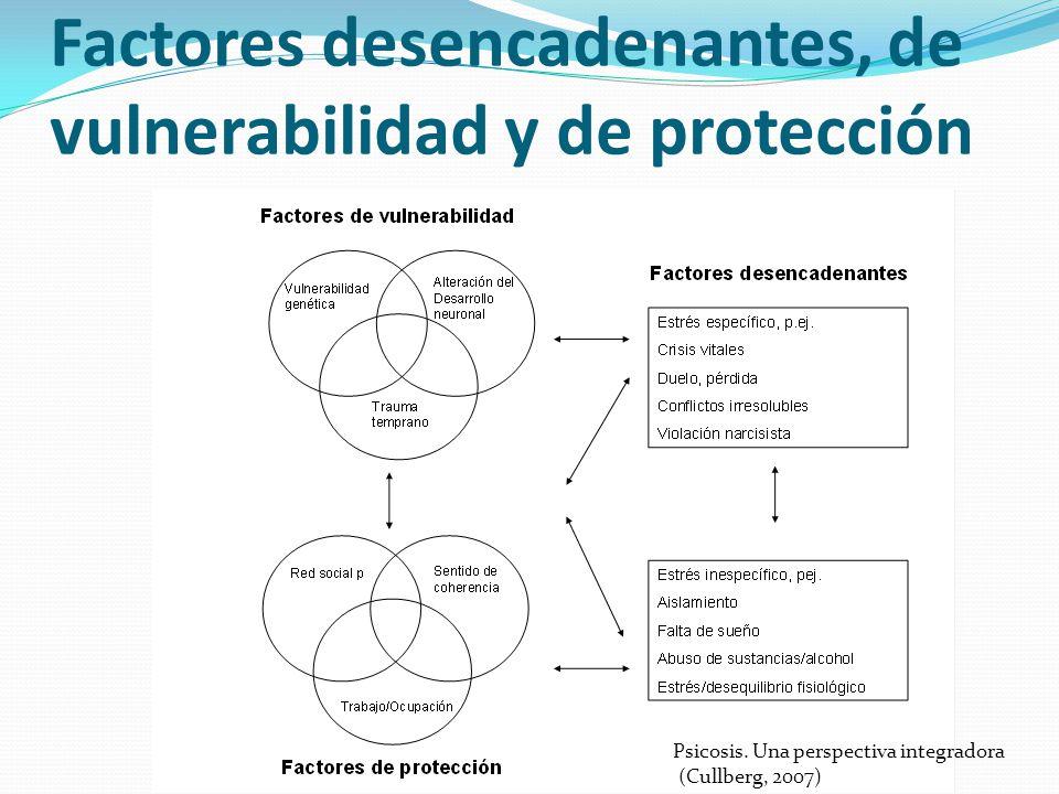 Factores desencadenantes, de vulnerabilidad y de protección