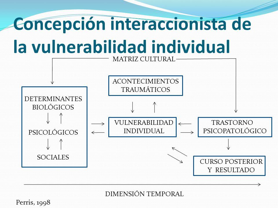 Concepción interaccionista de la vulnerabilidad individual
