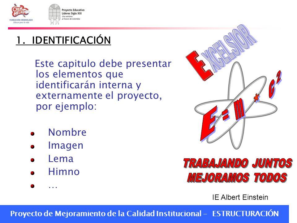 E XCELSIOR E c * = m 1. IDENTIFICACIÓN
