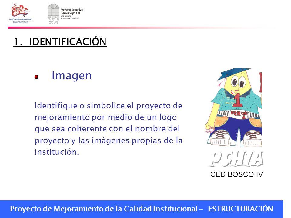 PCH1A Imagen 1. IDENTIFICACIÓN Identifique o simbolice el proyecto de
