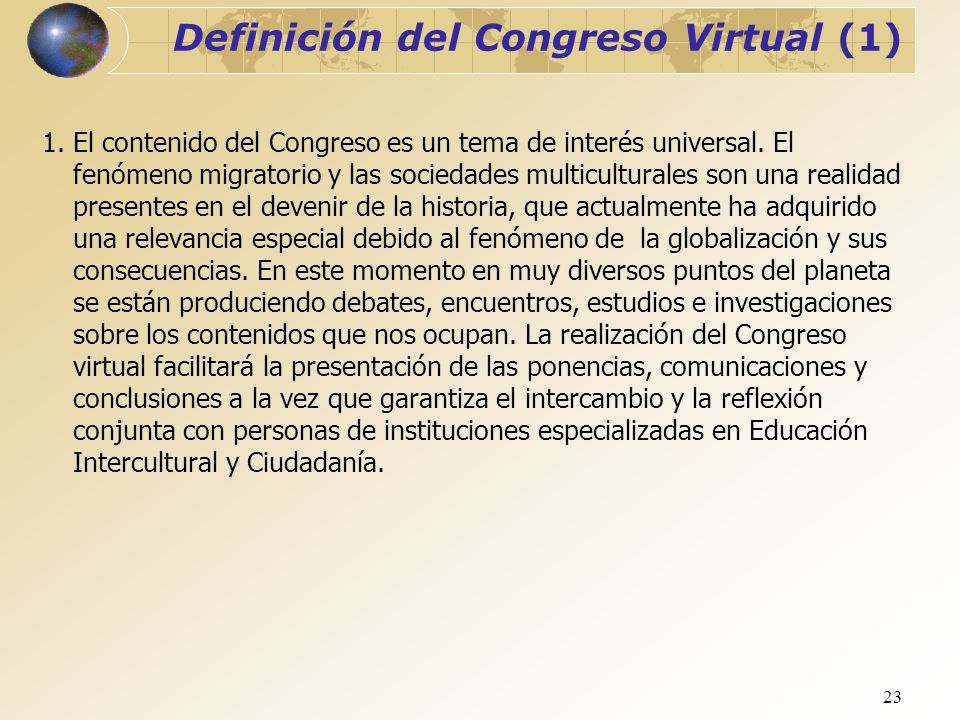 Definición del Congreso Virtual (1)