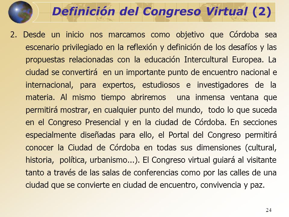 Definición del Congreso Virtual (2)