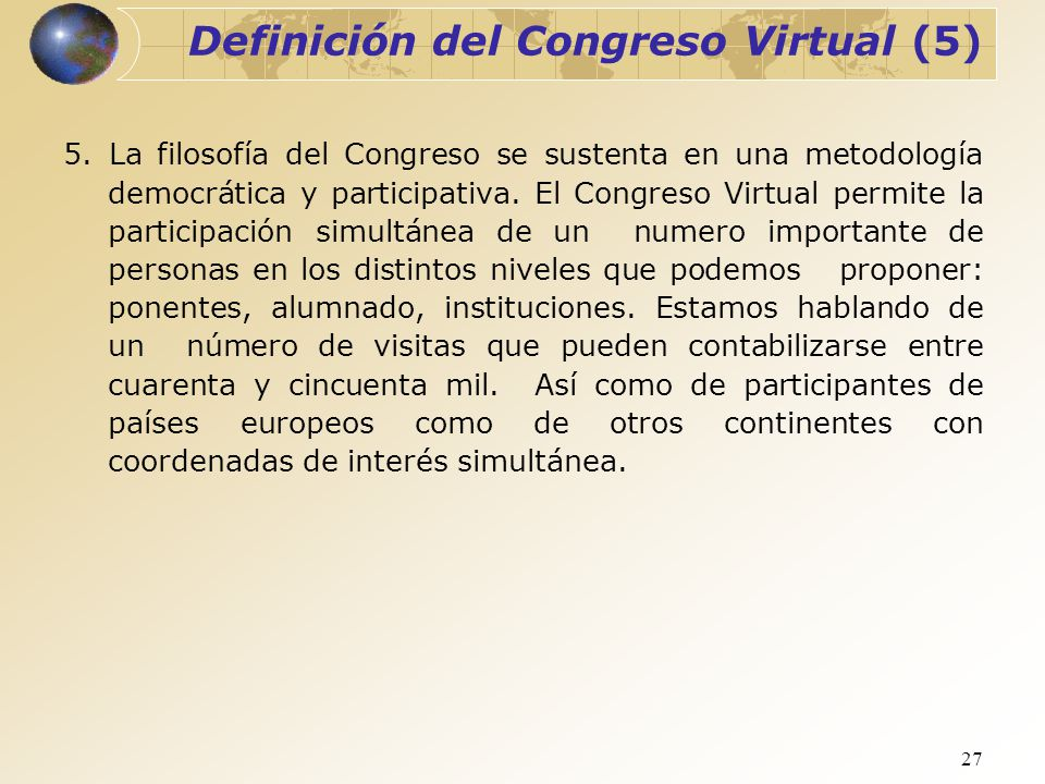 Definición del Congreso Virtual (5)