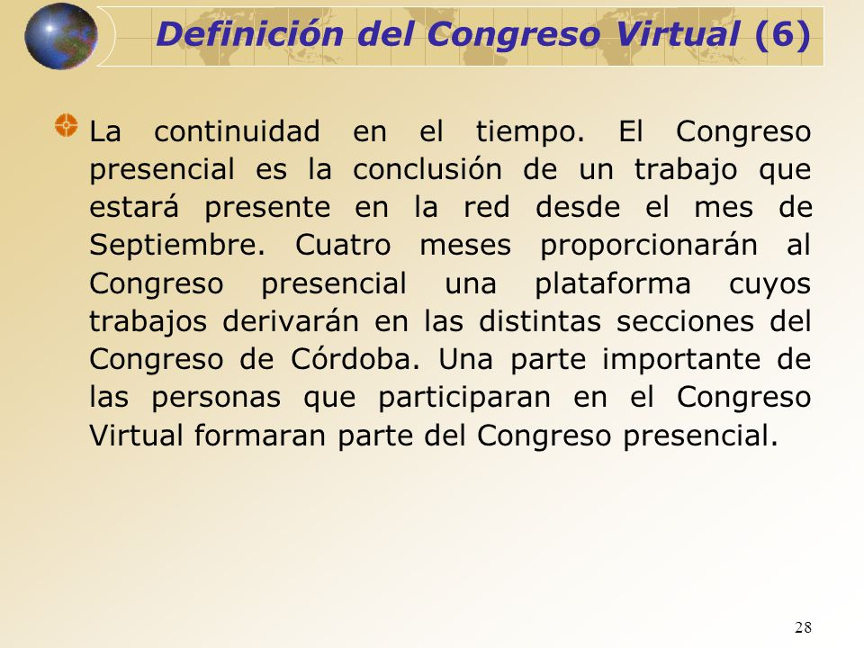 Definición del Congreso Virtual (6)