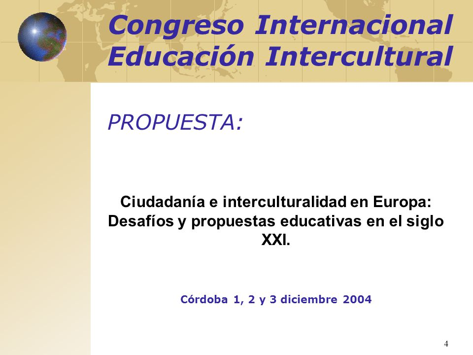 Congreso Internacional Educación Intercultural