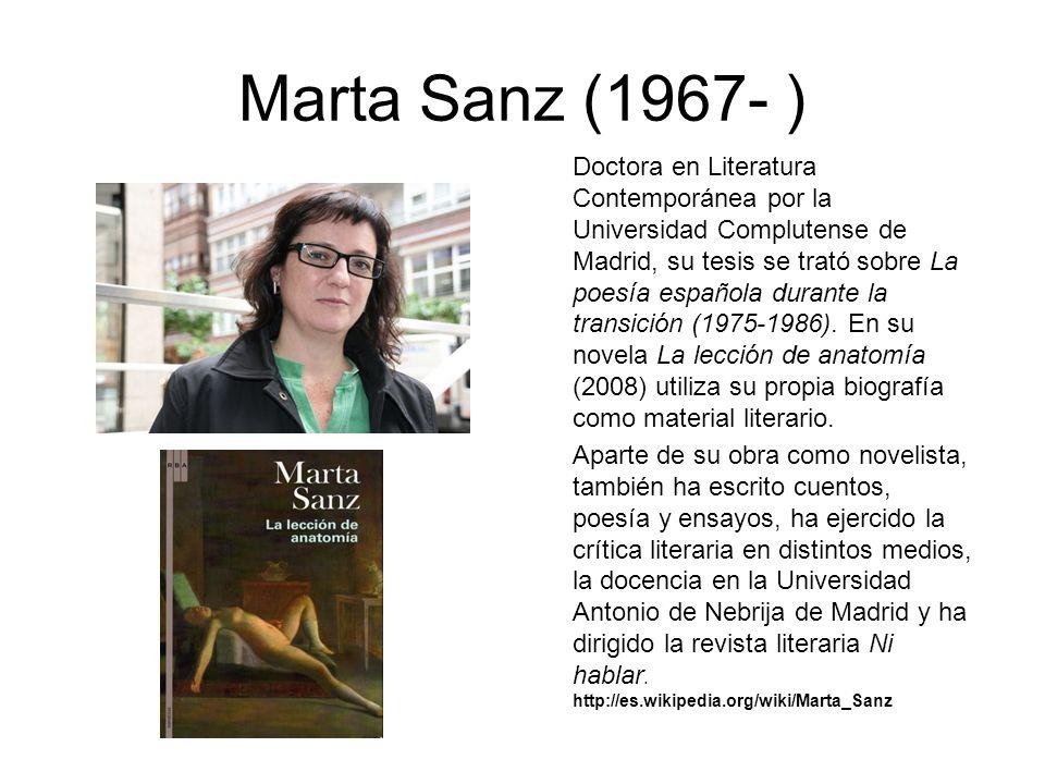 Marta Sanz (1967- )