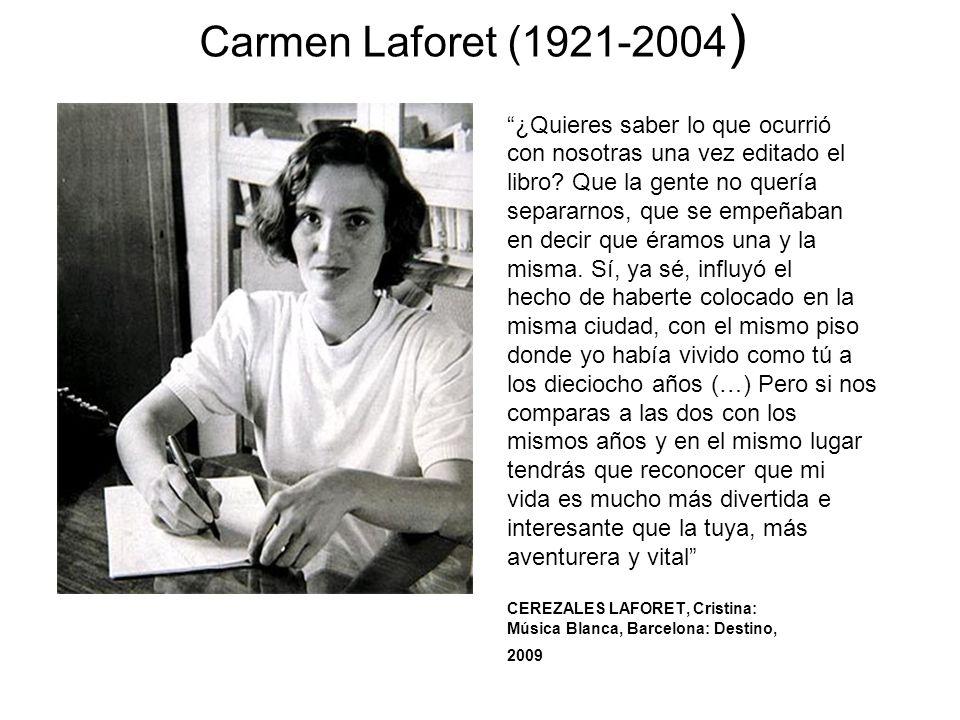 Carmen Laforet (1921-2004) ¿Quieres saber lo que ocurrió
