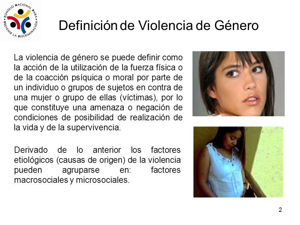 Definición de Violencia de Género
