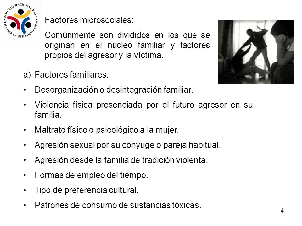 Factores microsociales: