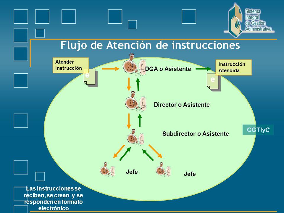 Flujo de Atención de instrucciones