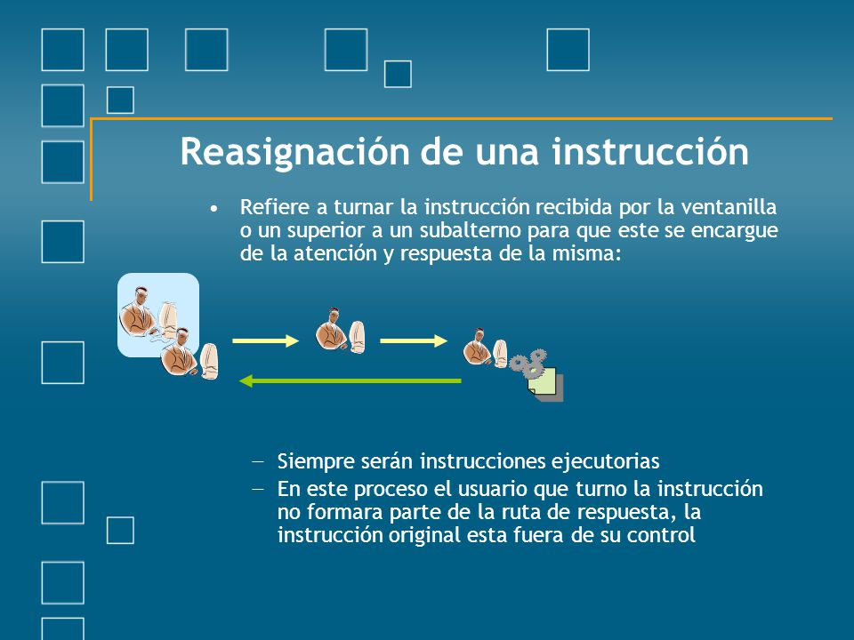 Reasignación de una instrucción