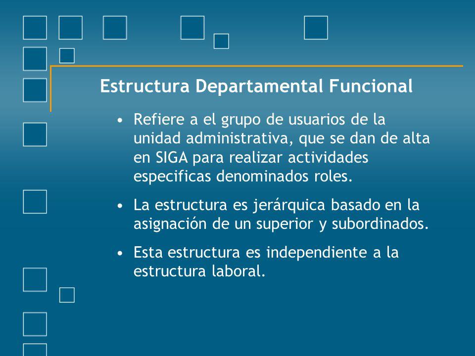 Estructura Departamental Funcional