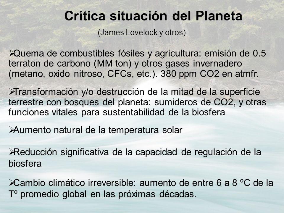 Crítica situación del Planeta