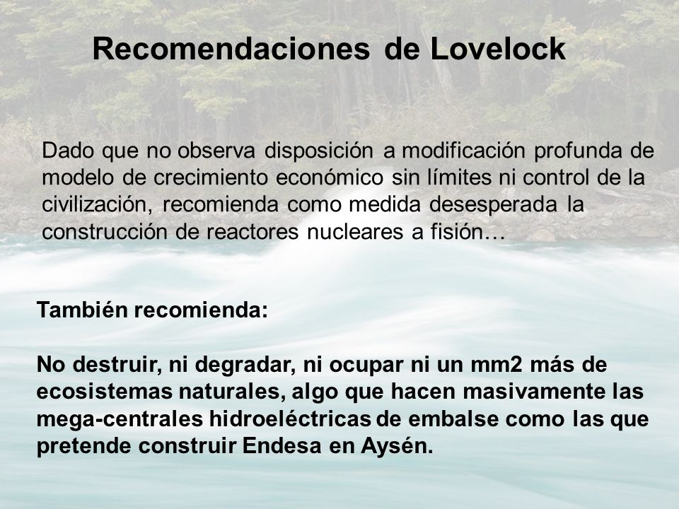 Recomendaciones de Lovelock