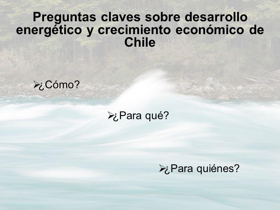 Preguntas claves sobre desarrollo energético y crecimiento económico de Chile