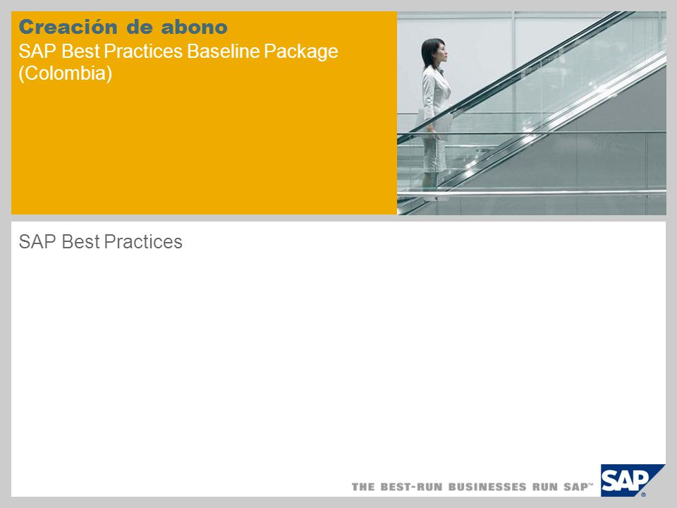 Creación de abono SAP Best Practices Baseline Package (Colombia)