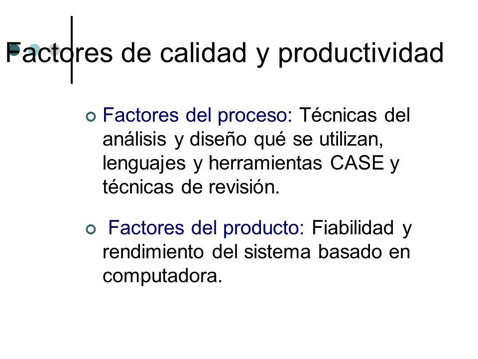 Factores de calidad y productividad