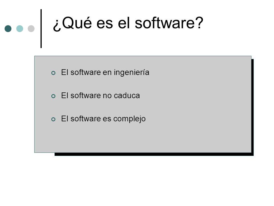 ¿Qué es el software El software en ingeniería El software no caduca