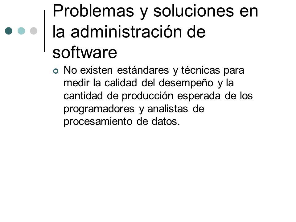 Problemas y soluciones en la administración de software