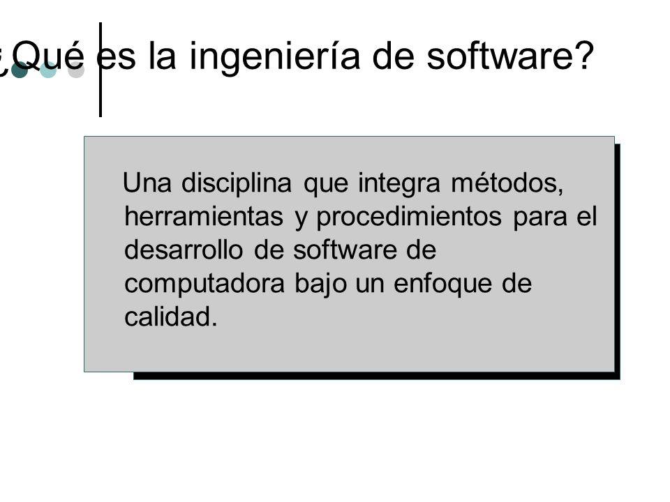 ¿Qué es la ingeniería de software